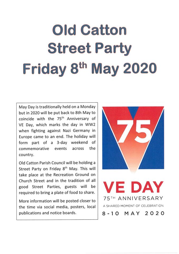VE DAY STREET PARTY - 8TH MAY 2020