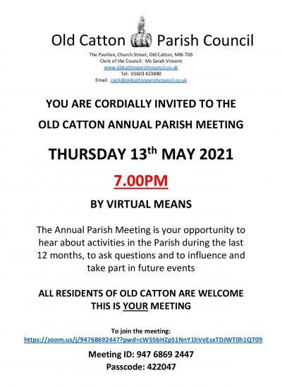Old Catton's Annual Parish Meeting