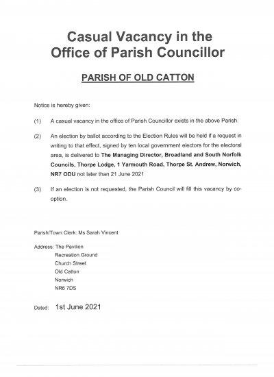 Notice of Casual Vacancy