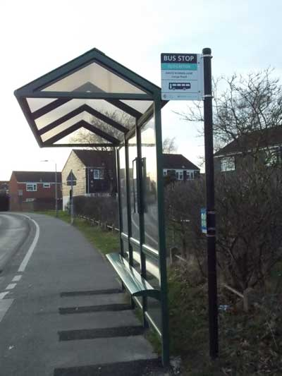 bus stop old catton